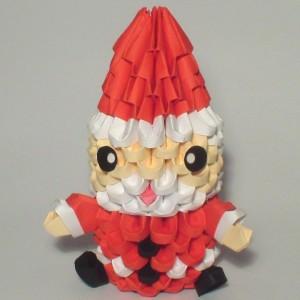 Мини Санта Клаус из треугольных модулей