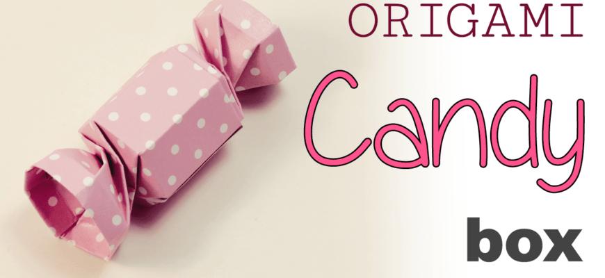 Подарочная коробочка-конфета из бумаги