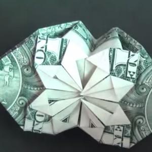 Оригами коробочка из доллара от Jeremy Shafer